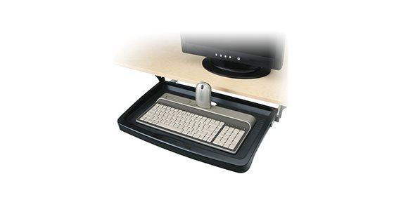 Plateformes et tiroirs à clavier