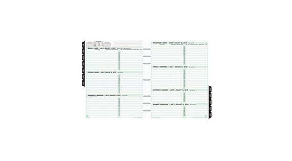 Recharges pour planificateurs et agendas
