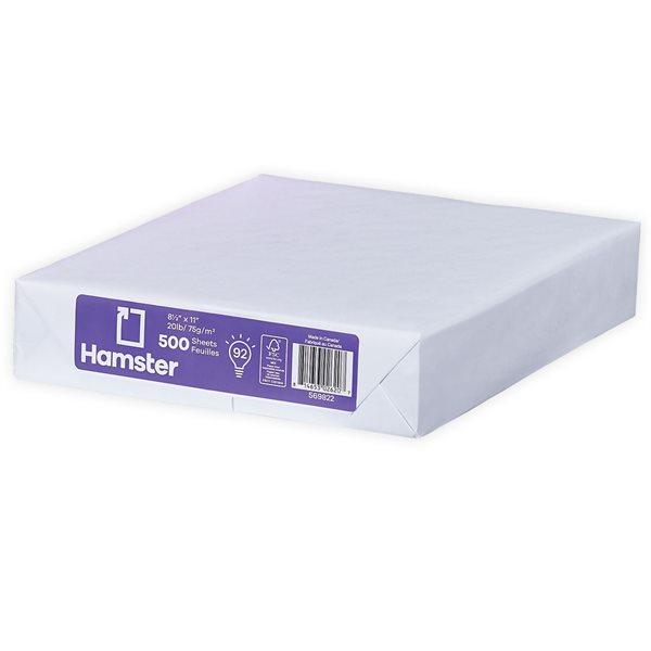 Papier carbon neutre à usages multiples Hamster Paquet de 500, format lettre