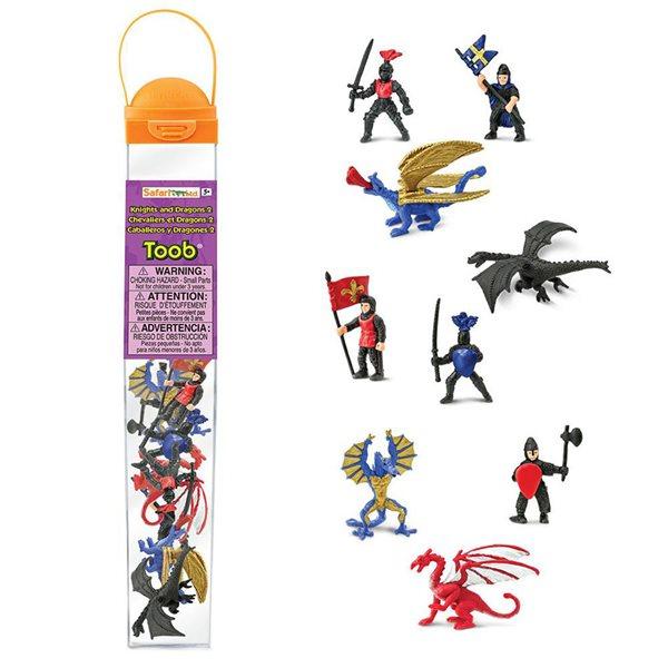 Chevaliers et dragons en tube