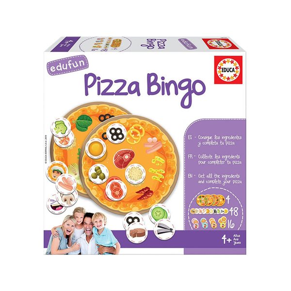 Jeu pizza bingo