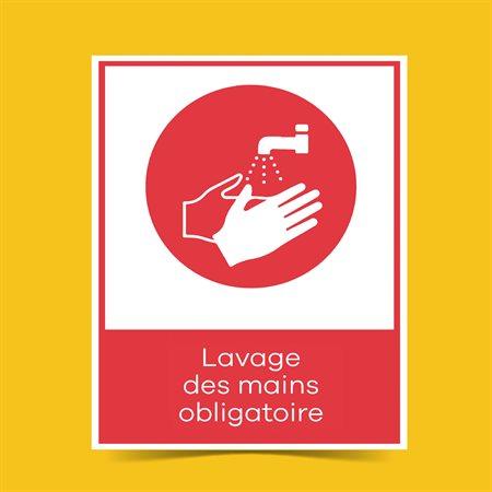 Affiche lavage des mains 8½x11 plastifié