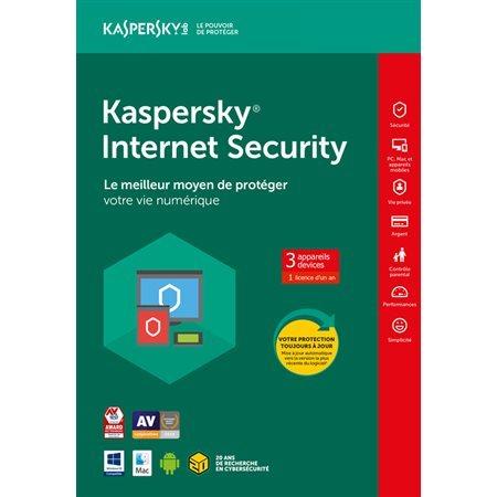 Kaspersky Internet Security 2020 1 utilisateur