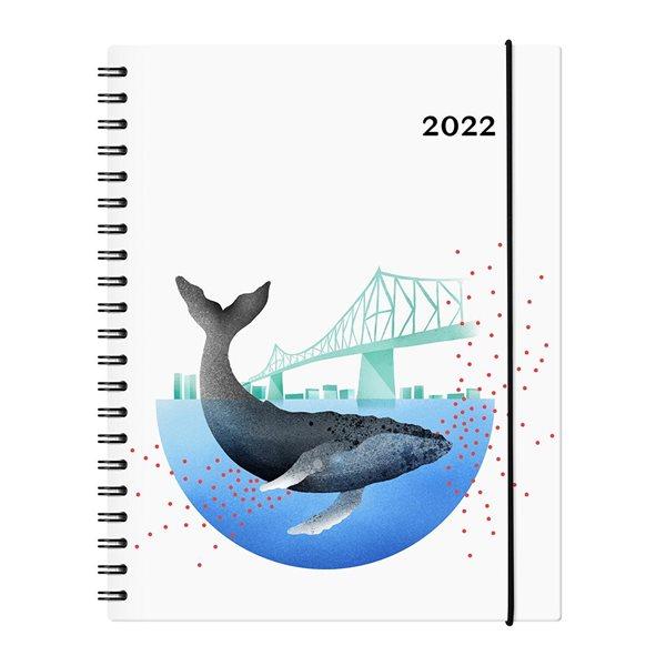 Agenda hebdomadaire W. Maxwell Garbo Baleine (2022)