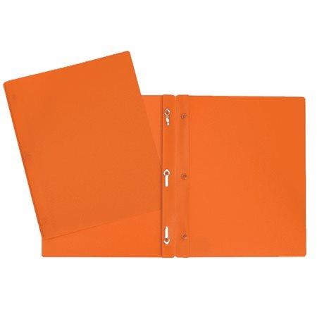 Couverture de présentation poly avec attaches orange