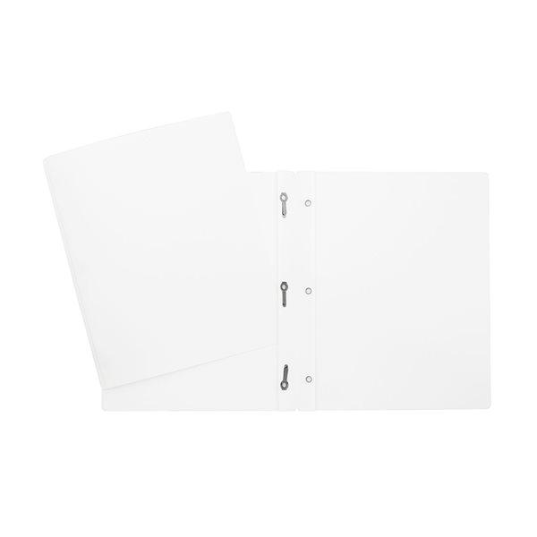 Couverture de présentation à trois attaches blanc