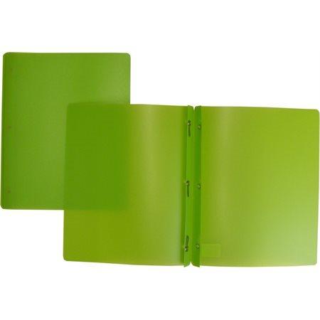 Couverture de présentation poly avec attaches vert pâle