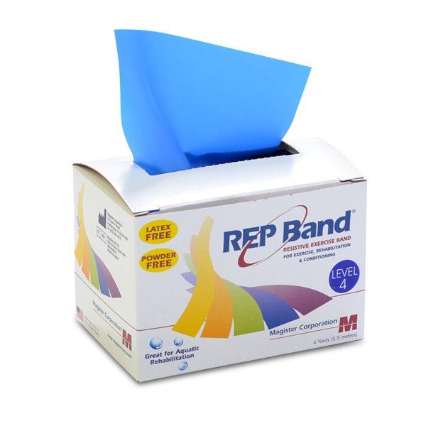 Ruban d'exercice élastique Rep-Band Niveau 4 (bleu)