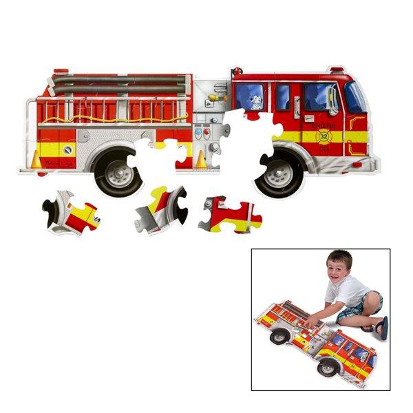 Casse-tête géant 24 morceaux Camion de pompier