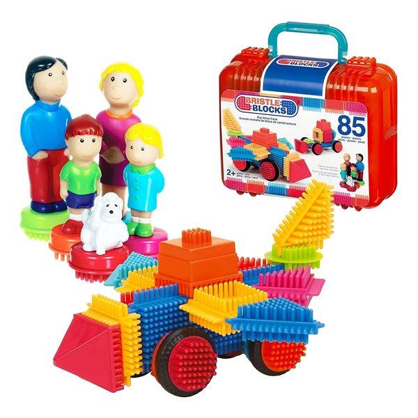 Jeu de blocs de construction avec mallette