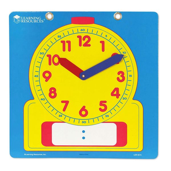 Horloge de démonstration inscriptible et effaçable