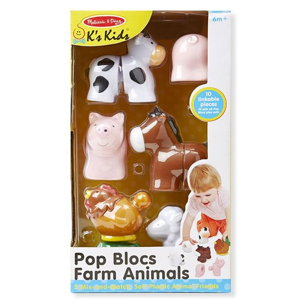 POP BLOCS ANIMAUX DE LA FERME