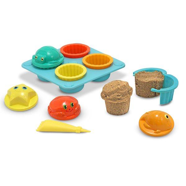 Ensemble de gâteaux de sable