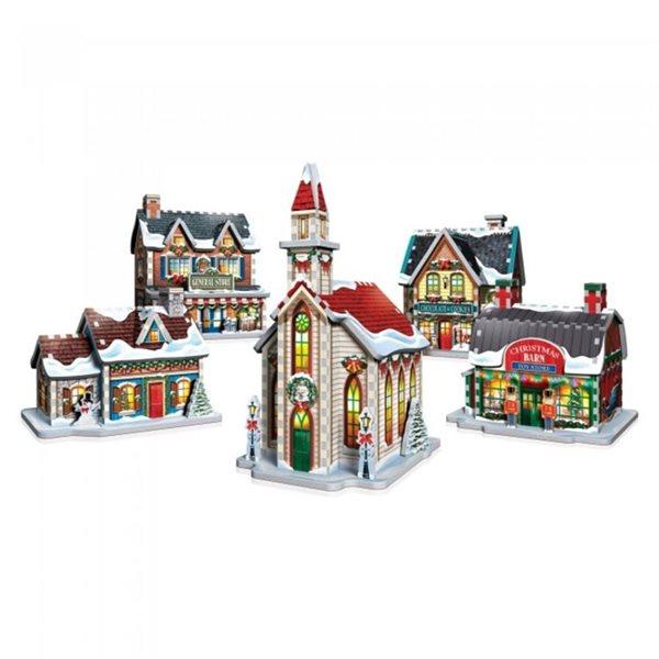 Casse-tête 3D 116 morceaux Village de Noël