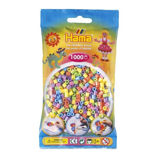 Perles Hama pastel (1000)