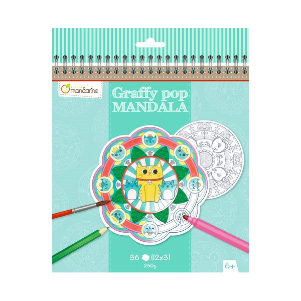 Carnet de Mandala Graffy Pop Animaux