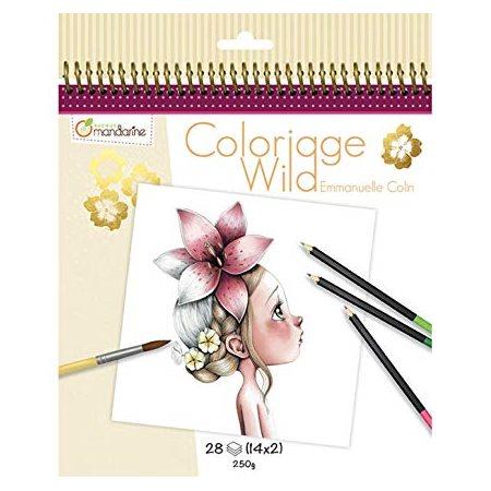 Carnet de coloriage Collector Wild