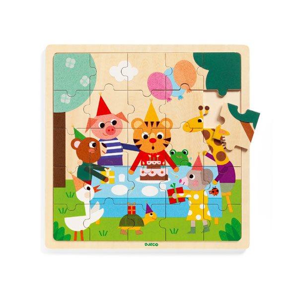 25 pcs- Bois puzzlo happy