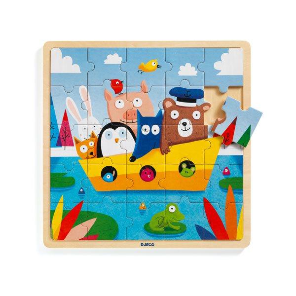 25 pcs-Bois puzzlo boat