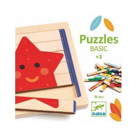 Casse-tête en bois Coffret puzzles basic