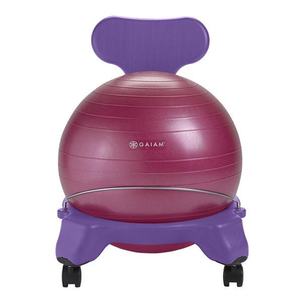 Chaise ballon d'équilibre pour enfant Mauve et rose