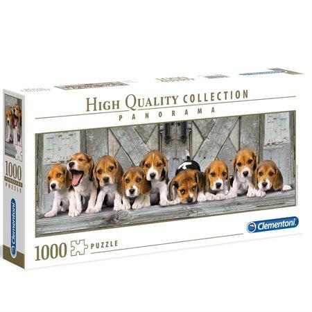 Casse-tête panoramique 1000 morceaux Chiots Beagle