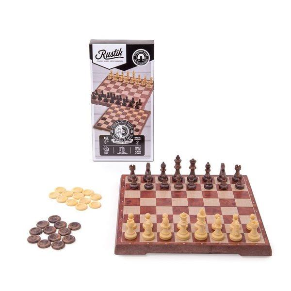 Jeu d'échecs et dames magnétique