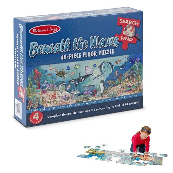 Casse-tête 48 morceaux Cherche et trouve Sous les vagues