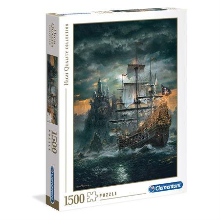 Casse-tête 1500 morceaux Le Bateau Pirate