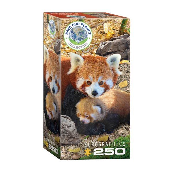 Casse-tête 250 morceaux Pandas rouges