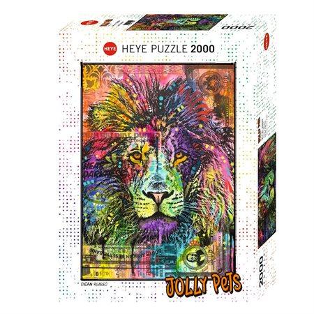 Casse-tête 2000 morceaux Coeur de lion