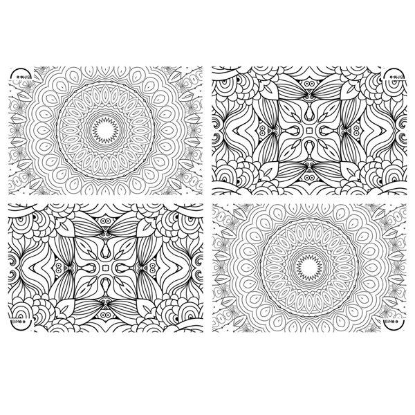 Nappe à colorier Mandala - 114 x 114 cm