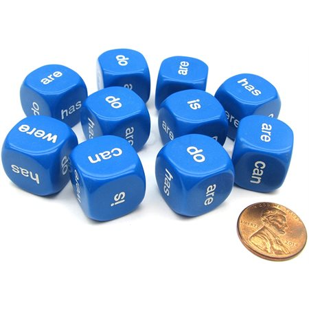 Being and helping verbs dice