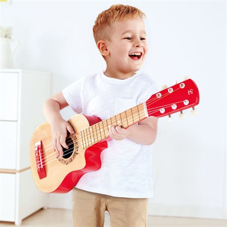 Guitare rouge flamme