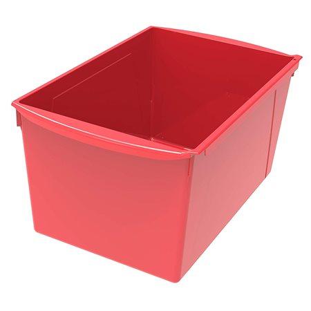 Bac de rangement de grand format Rouge