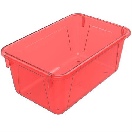 Bac de rangement de petit format Rouge translucide