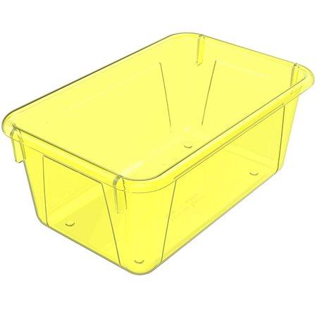 Bac de rangement de petit format Jaune translucide