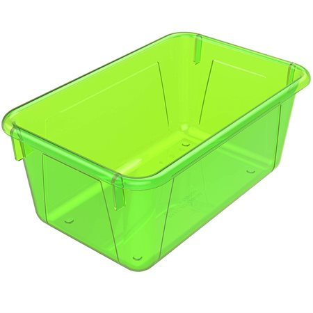 Bac de rangement de petit format Vert translucide