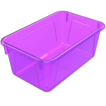 Bac de rangement de petit format Violet translucide